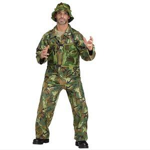 Mens Special Forces Costume Army Camo Uniform NWT